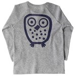 Big Owl l/s tee - Grey