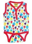 Dot flower sleeveless suit, sz 1-3mts - 65% OFF!