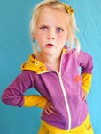Purple hoodie by AlbaBaby, sz 5-6yrs left!