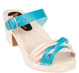 Boho-Licious Clog - Turquoise/Natural, sz 38 - 33% OFF!