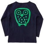 Big Owl l/s tee - Navy