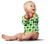Organic bodysuit - Green Apples 