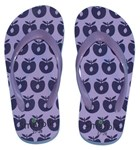 Flip flops - Purple apple, sz 35-36 - 40% OFF!