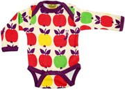 Lapneck bodysuit - Purple apple