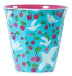 Melamine cup - Turquoise Dove