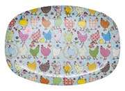 Melamine Dinner plate - Blue Hen