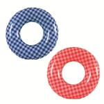Beach Swim Ring Gingham Print in Assorted Colours - 50% OFF!