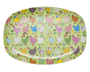 Melamine Dinner plate - Green Hen