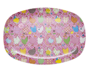 Melamine Dinner plate - Pink Hen 
