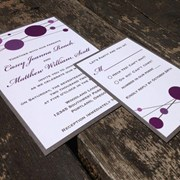 Festive Dots Wedding Invitation