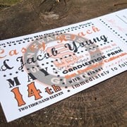 Baseball Ticket Wedding Invitation