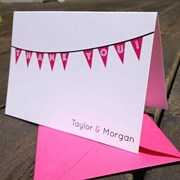 Bunting Banner Note Cards