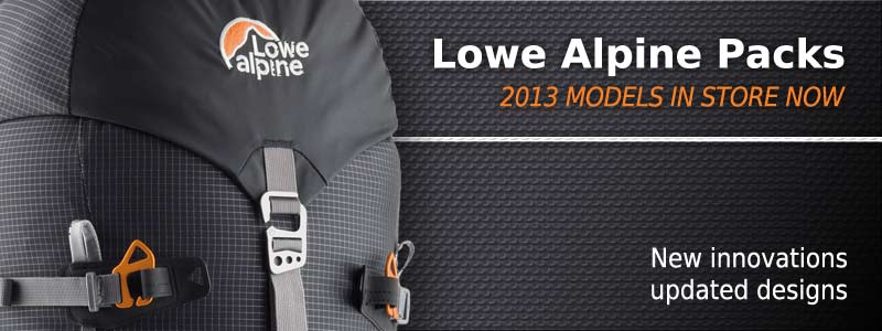 2013 range of Lowe Alpine packs available at Hiking.com.au