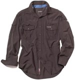 Craghoppers NosiLife Long-Sleeved Shirt Mens - Dark Bark