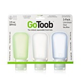 Humangear - 3 Pack GoToob Large (89ml) Silicone Squeezable Travel Tube