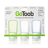 Humangear - 3 Pack GoToob Small (37ml) Silicone Squeezable Travel Tube
