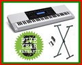 CASIO KEYBOARD WK220 76 KEYS + Stand + Plug n Play Pack RRP$399