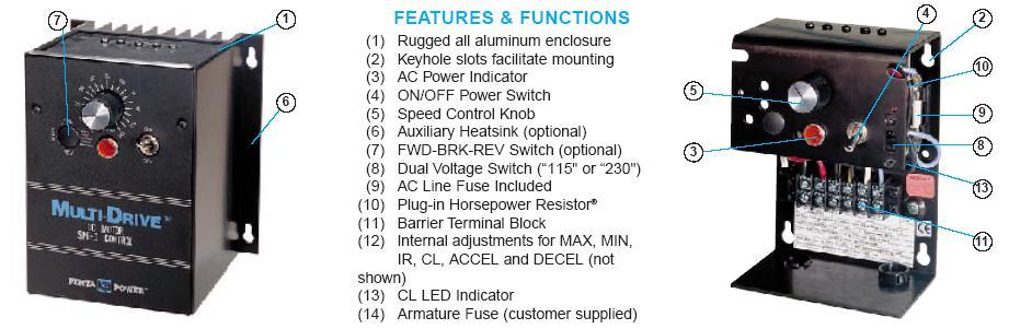 Kb electronics kbmd 240d wa rewind dc variable speed for Kbmd dc motor speed control