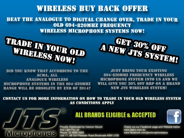 Trade in your old wireless systems and get 30% off - click here!
