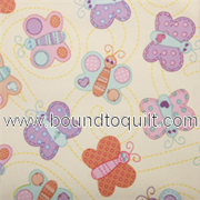 PUL Babyville Fabric - Diaper Waterproof fabrics - Butterflies