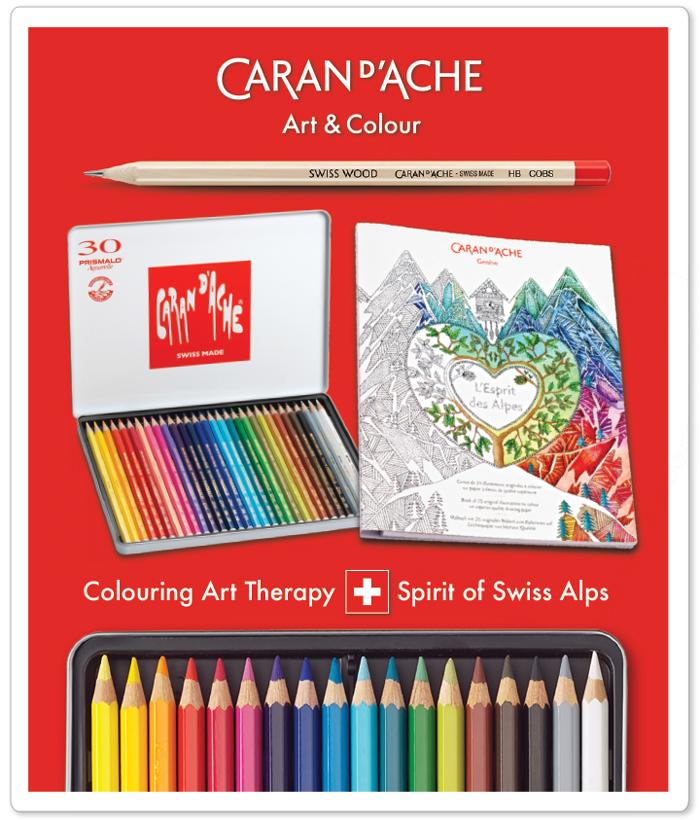 CARAN D'ACHE L'ESPRIT DES ALPES Art therapy colouring gift box