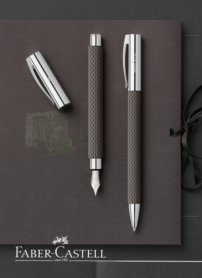 Faber Castell Ambition Opart Black Sand Fountain Pen Pens
