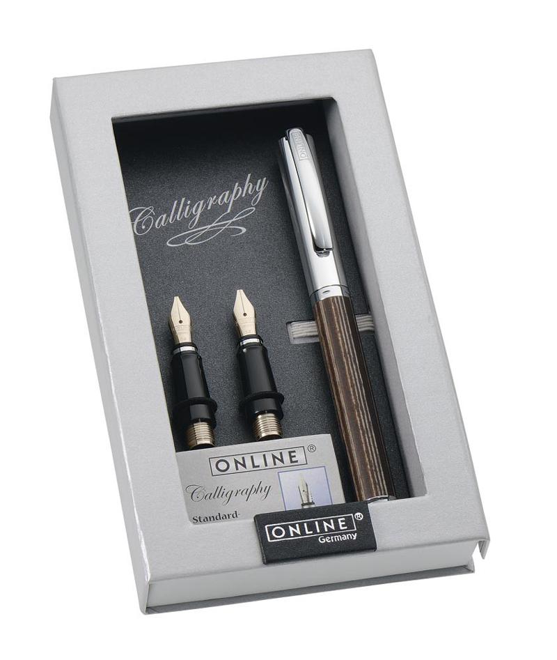 online germany vision wooden calligraphy set pens de luxe online shop. Black Bedroom Furniture Sets. Home Design Ideas