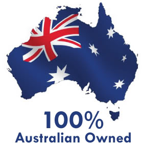 100% australian owned logo