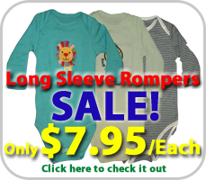 Baby Long Sleeve Romper Sale