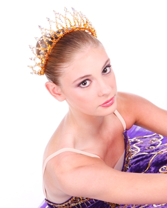 Dance Crown Princess Aurora Gold and Clear Crystal