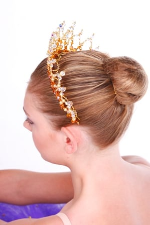 Ballet Crown Headpiece Princess Aurora Gold and Clear Crystal