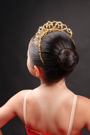 Ballet Tiara Crown Lil'Giselle Gold
