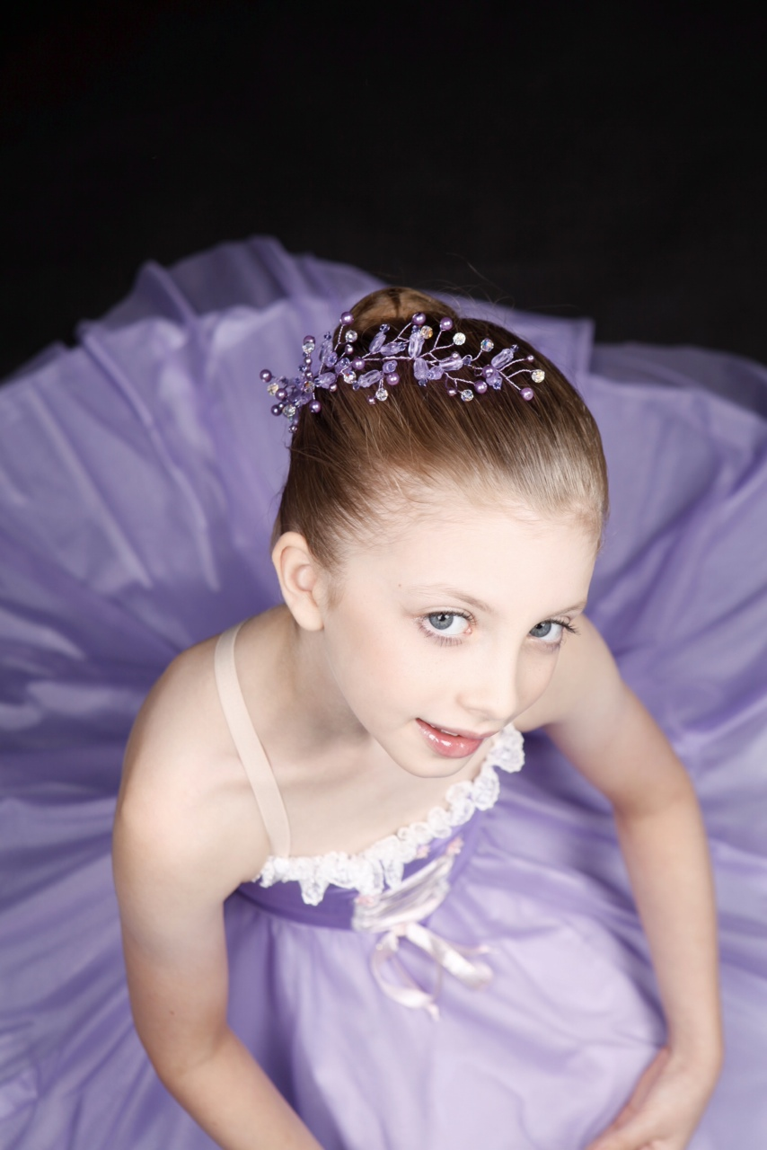 Ballet Crystal and Pearl Flexi Wire Headband