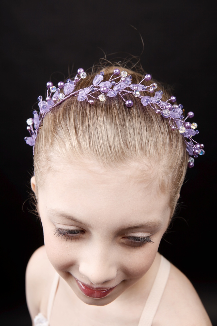 Ballet Dance Flexible Crystal and Pearl Headband