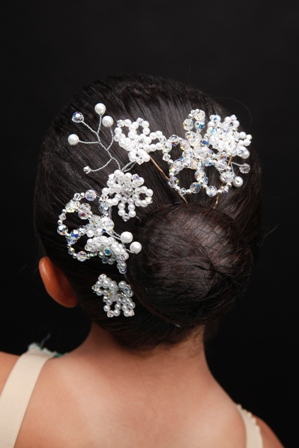 "Dance Bun Tiara or Headband ""The Vivienne"""