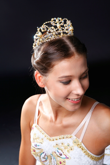 Ballet Dance Crown Tiara Headpiece Eliza