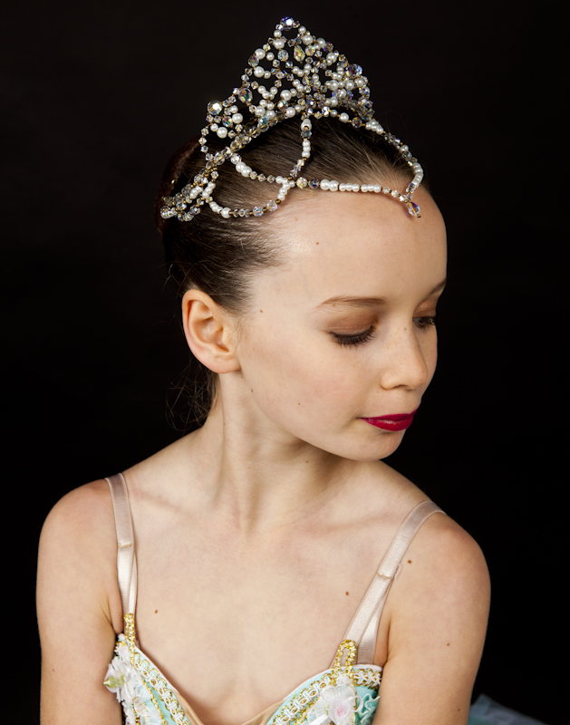 Ballet Tiara Lil'Raymonda V1 - with Drop Front