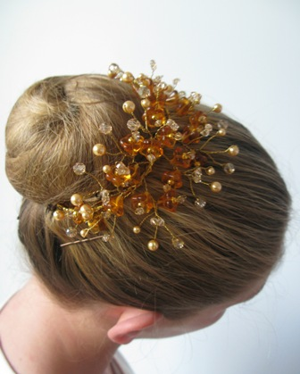 Ballet Bun Tiara Winter Minuet Gold