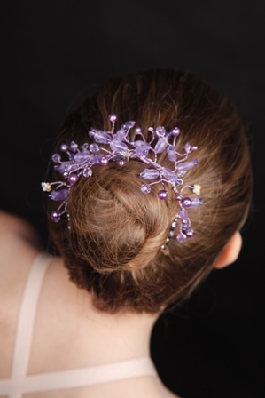 Ballet Bun Tiara Winter Minuet In Lilac