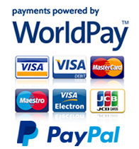 Payments powered by WorldPay and PayPal