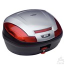 GIVI 470 MONOLOCK® BOX SIL/BLK WITH PLATE
