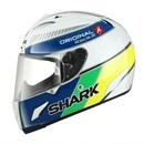 Shark RACE-R ORIGINAL White Blue Yellow Helmet SALE