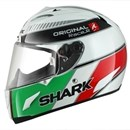 Shark RACE-R ORIGINAL White Green Red Helmet SALE