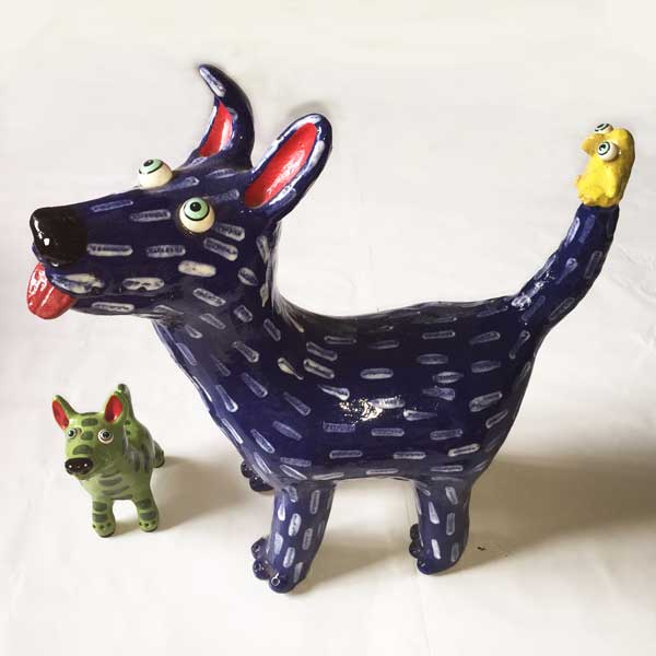 Ceramic Dog by Elodie Barker.  A Great Gift for Dog Lovers.
