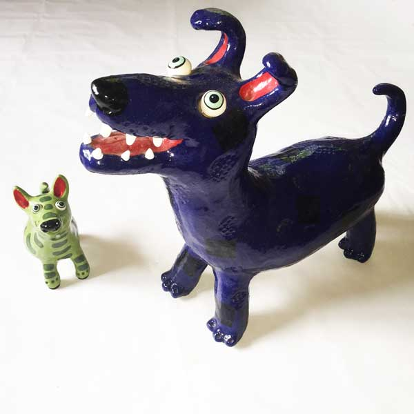 Unique Ceramic Dog, the Ideal Christmas Gift for a Dog Lover