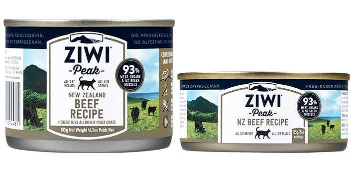 ZIWI Peak cans for cats - canned grass-fed Beef