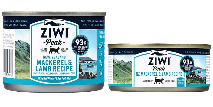 ZiwiPeak Mackerel and Lamb cat cans