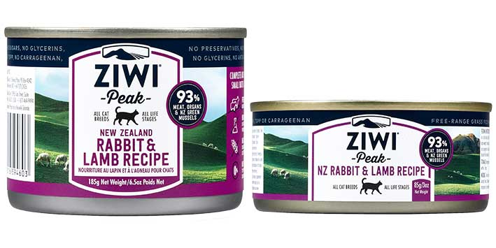 ZiwiPeak Rabbit and Lamb cat cans