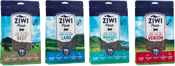 ZIWI Peak air-dried cat food - 98% meat, organs, fish and New Zealand Mussel