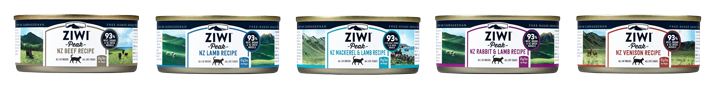 ZIWI Peak cat cans - single-serve 85-gram cans, natural meat diet for healthy cats or kittens
